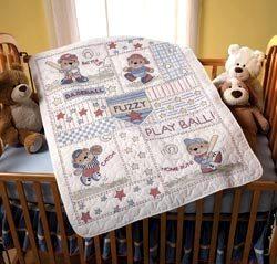 45386 Baseball Buddies Crib Cover